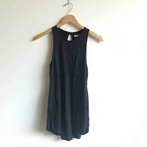 Urban Outfitters Open Back Black Mesh Tank Top